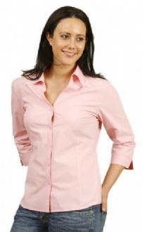 [BS07Q] Ladies' 3/4 sleeve teflon shirt - BS07Q Image