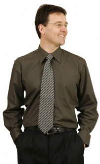 [BS08L] Mens L/S Teflon business shirt - BS08L Image