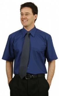 [BS08S] Mens S/S Teflon business shirt - BS08S Image