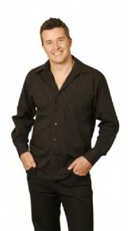 [BS17] Mens L/S Stripe Shirt - BS17 Image