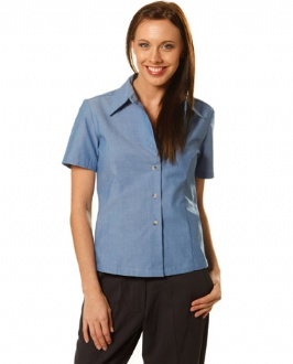 [BS05] Ladies w/f S/S chambray shirt - BS05 Image