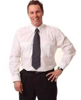 [BS06L] Man's Epaulette shirt,long sleeve. - BS06L Image