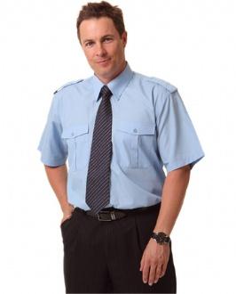 [BS06S] Man's Epaulette shirt ,short sleeve. - BS06S Image