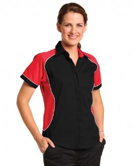 [BS16] Ladies' Contrast Shirt - BS16 Image