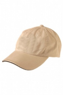 [CH40] Washed polo cotton unstructured cap sandwich cap - CH40 Image