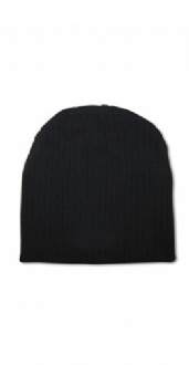 [CH62] Acrylic knit beanie with cable row feature - CH62 Image