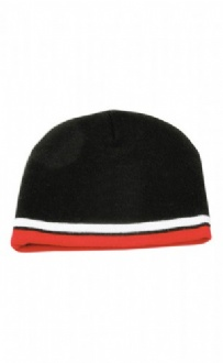 [CH63] Knitted 100% acrylic contrast stripes beanie - CH63 Image