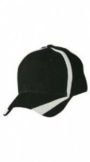[CH81] Brushed cotton twill baseball cap 'X' contrast - CH81 Image