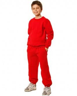 [FL01K] Kids Crew Neck Fleecy Sweater - FL01K Image