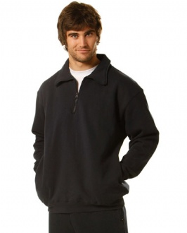 [FL02] 1/2 zip collar fleecy sweat - FL02 Image