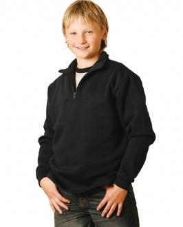 [FL02K] Kid's 1/2 zip collar fleecy sweat - FL02K Image