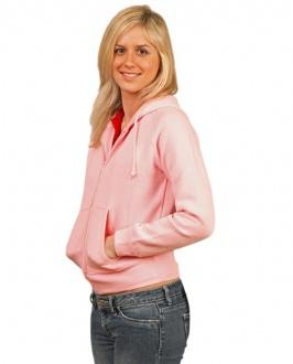 [FL04] Ladies' full-zip fleecy hoodie - FL04 Image