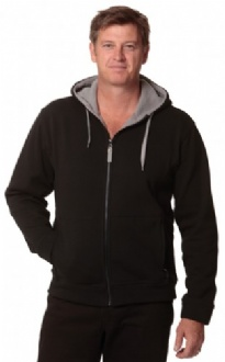 [FL17] Men's Full Zip Contrast Fleece Hoodie - FL17 Image