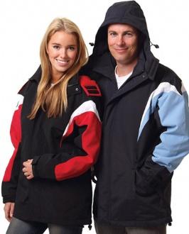 [JK28] bathurst tri-color jacket with hood - JK28 Image