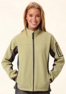 [JK32] Ladies?�? Contrast Softshell Jacket - JK32 Image