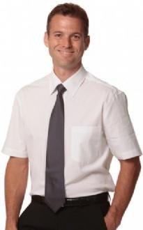 [M7020S] Men's Cotton/Poly Stretch S/S Shirt - M7020S Image