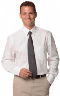 [M7030L] Men's Fine Twill L/S Shirt - M7030L Image