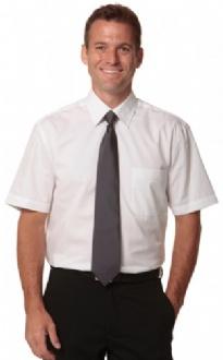 [M7030S] Men's Fine Twill S/S Shirt - M7030S Image