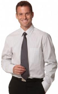 [M7200L] Men's Ticking Stripe L/S Shirt - M7200L Image