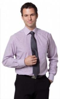 [M7232] Men's Balance Stripe Long Sleeve Shirt - M7232 Image