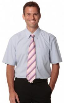 [M7360S] Men's Mini Check S/S Shirt - M7360S Image