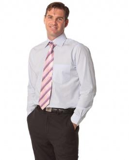 [M7362] Men's Mini Check Premium Cotton Long Sleeve Shirt - M7362 Image