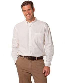 [M7902] Men's Washed Oxford Long Sleeve Shirt - M7902 Image