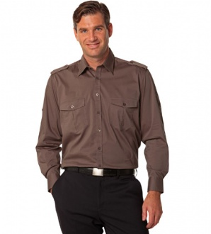 [M7912] Men's Long Sleeve Military Shirt - M7912 Image