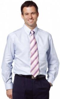 [M7922] Men's Dot Contrast Long Sleeve Shirt - M7922 Image