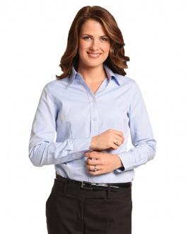 [M8005L] Women's Pinpoint Oxford L/S Shirt - M8005L Image