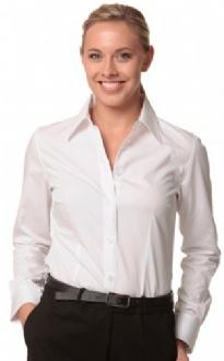 [M8020L] Women's Cotton/Poly Stretch L/S Shirt - M8020L Image
