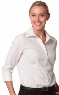 [M8020Q] Women's Cotton/Poly Stretch 3/4 Sleeve Shirt - M8020Q Image