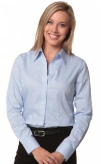 [M8030L] Women's Fine Twill L/S Shirt - M8030L Image