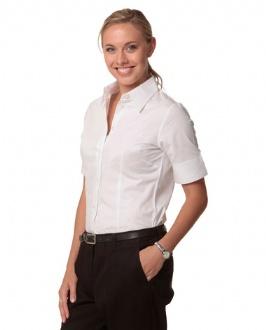 [M8030S] Women's Fine Twill S/S Shirt - M8030S Image