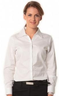 [M8100L] Women's Self Stripe L/S Shirt - M8100L Image