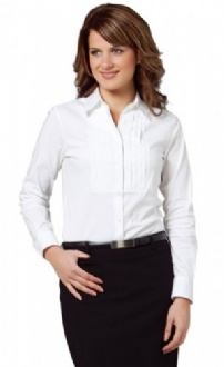 [M8192] Women's Stretch Tuck Front Long Sleeve Shirt - M8192 Image