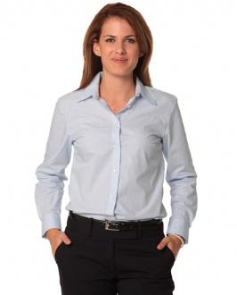 [M8212] Women's Fine Stripe Long Sleeve Shirt - M8212 Image