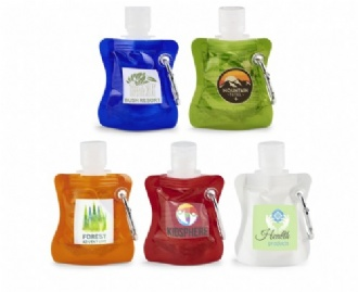SOFT PACK 30ML HAND SANITISER WITH CARABINER - PSSPC30 Image