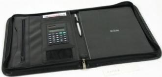 Exec Koeskin Zip Round Portfolio & Calculator - G585 Image