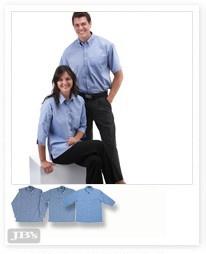 JENI B Fine Chambray Shirt - 3/4 Sleeve - 4LSLT Image